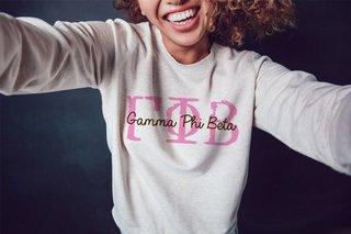 Gamma Phi Beta Greek Type Crewneck Sweatshirt