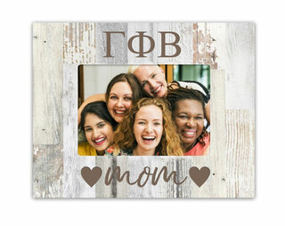 Gamma Phi Beta Hearts Faux Wood Picture Frame