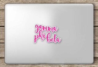 Gamma Phi Beta Script Sticker