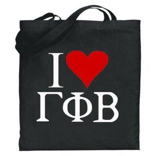 Gamma Phi Beta I Love Tote Bags