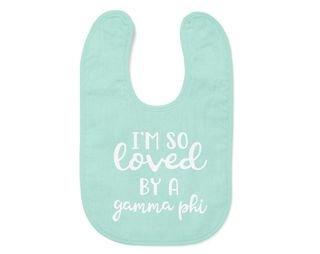 Gamma Phi Beta I'm So Loved Baby Bib