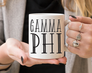 Gamma Phi Beta Inline Coffee Mug