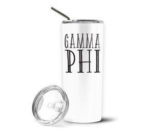 Gamma Phi Beta Inline Stainless Tumbler