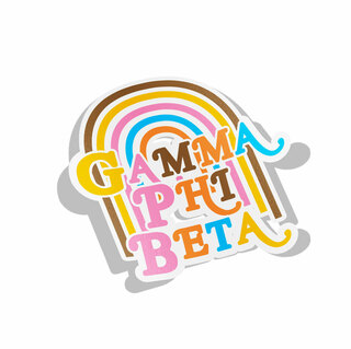 Gamma Phi Beta Joy Decal Sticker