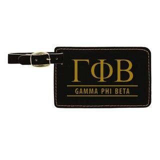Gamma Phi Beta Leatherette Luggage Tag