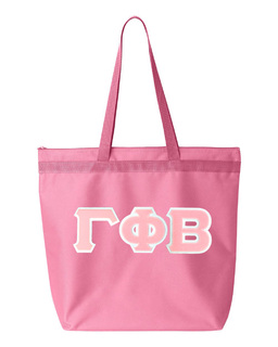DISCOUNT-Gamma Phi Beta Lettered Game Day Tote