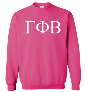 Gamma Phi Beta Lettered World Famous $19.95 Greek Crewneck