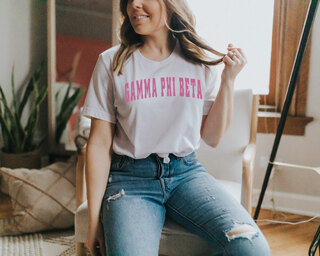Gamma Phi Beta Letterman T-Shirts