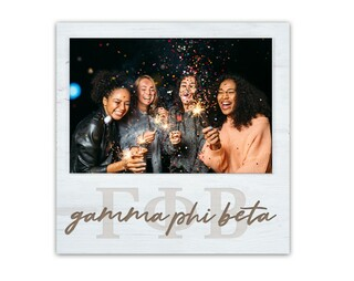 Gamma Phi Beta Letters Script Block Picture Frame