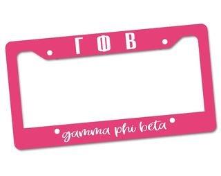 Gamma Phi Beta Custom License Plate Frame