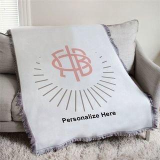 Gamma Phi Beta Logo Afghan Blanket Throw