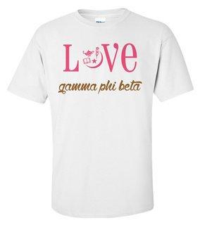 Gamma Phi Beta Love Mascot T-Shirt