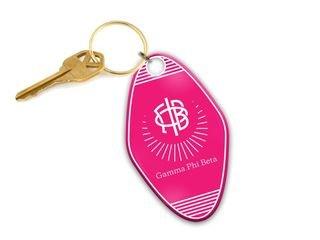 Gamma Phi Beta Mascot Motel Keychain
