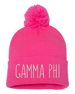 Gamma Phi Beta Mod Pom Pom Beanie