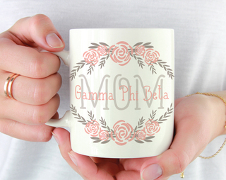 Gamma Phi Beta Mom Floral Mug