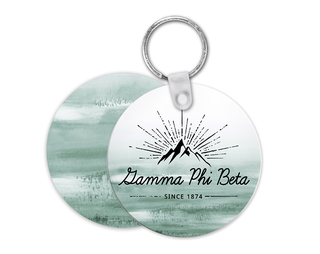 Gamma Phi Beta Mountain Key Chain