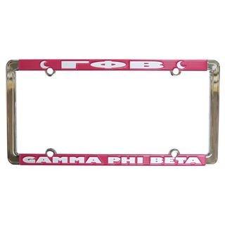 Gamma Phi Beta New Design License Plate Frame