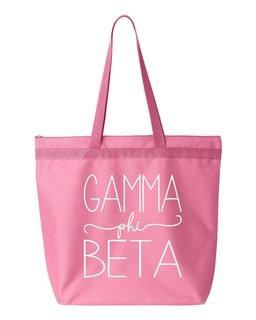 Gamma Phi Beta New Handwriting Tote Bag
