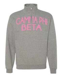 Gamma Phi Beta Over Zipper Quarter Zipper Sweatshirt