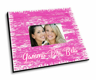 Gamma Phi Beta Painted Fence Picture Frame