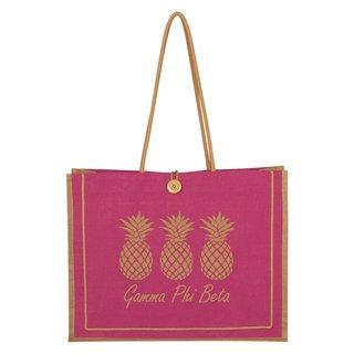 Gamma Phi Beta Paradise Jute Bag
