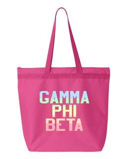 Gamma Phi Beta Pastel Tote Bag