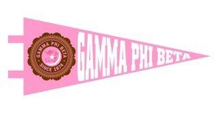 Gamma Phi Beta Pennant Decal Sticker