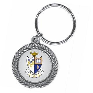 Gamma Phi Beta Pewter Key Ring
