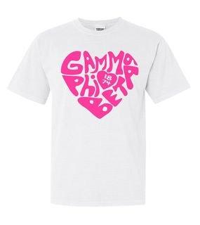 Gamma Phi Beta Piece of My Heart Sorority Comfort Colors T-Shirt