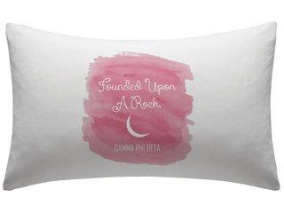 Gamma Phi Beta Motto Watercolor Pillowcase