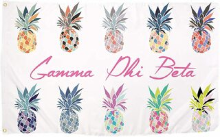 Gamma Phi Beta Pineapple Flag