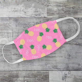 Gamma Phi Beta Pineapples Face Mask