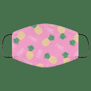 Gamma Phi Beta Pineapples Face Mask