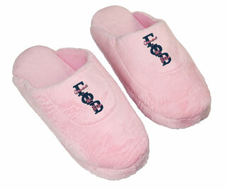 DISCOUNT-Gamma Phi Beta Pink Solid Letter Slipper
