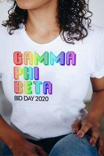 Gamma Phi Beta Pixel Tee - Comfort Colors