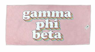Gamma Phi Beta Plush Retro Beach Towel