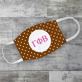Gamma Phi Beta Polka Dots Face Mask