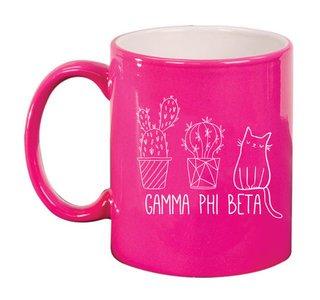 Gamma Phi Beta Purrrfect Sorority Coffee Mug