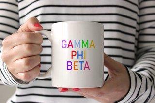Gamma Phi Beta Rainbow Coffee Mug