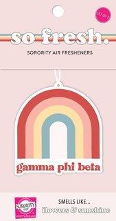 Gamma Phi Beta Rainbow Retro Air Freshener - Flowers & Sunshine Scent