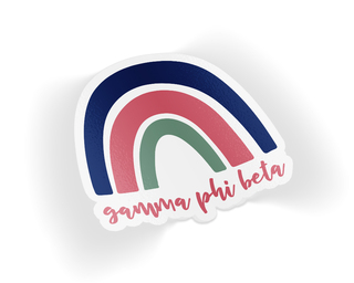 Gamma Phi Beta Rainbow Sticker