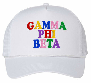 Gamma Phi Beta Rainbow Trucker Hat