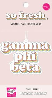 Gamma Phi Beta Retro Air Freshener (2 pack)
