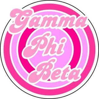 Gamma Phi Beta Retro Round Decals