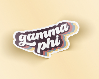 Gamma Phi Beta Retro Sticker
