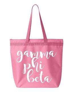 Gamma Phi Beta Script Tote bag