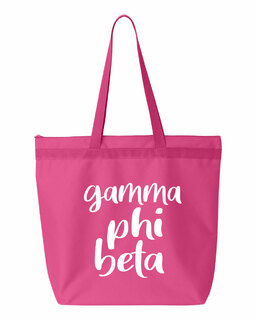 Gamma Phi Beta Script Tote Bag