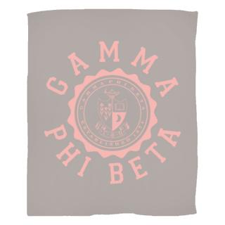 Gamma Phi Beta Seal Fleece Blanket