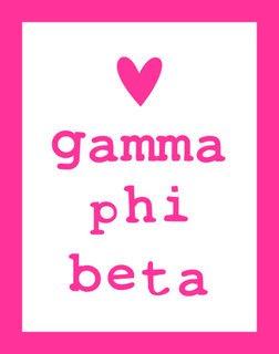 Gamma Phi Beta Simple Heart Sticker