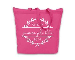 Gamma Phi Beta Since Established Tote bag